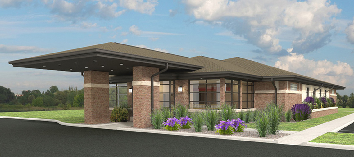 Evan Lloyd Architects provided healthcare architectural services for Macoupin Family Practice in Carlinville, Illinois, building a new medical clinic.