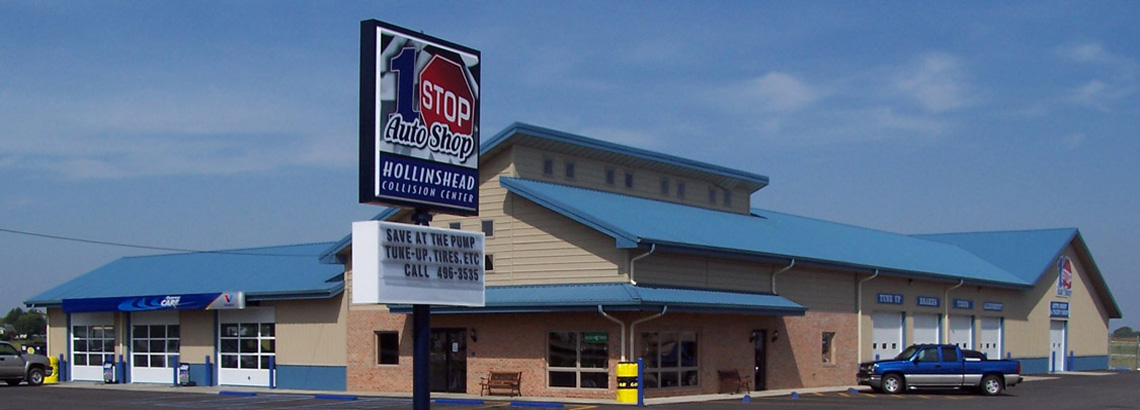 Evan Lloyd Architects provided architectural services with new automotive service centers for 1 Stop Auto Shop in Chatham and Sherman, Illinois.