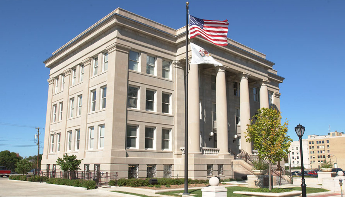 Evan Lloyd Architects provided government architectural services for 4th Distriction Appellate Court - Waterways Building in Springfield, Illinois.