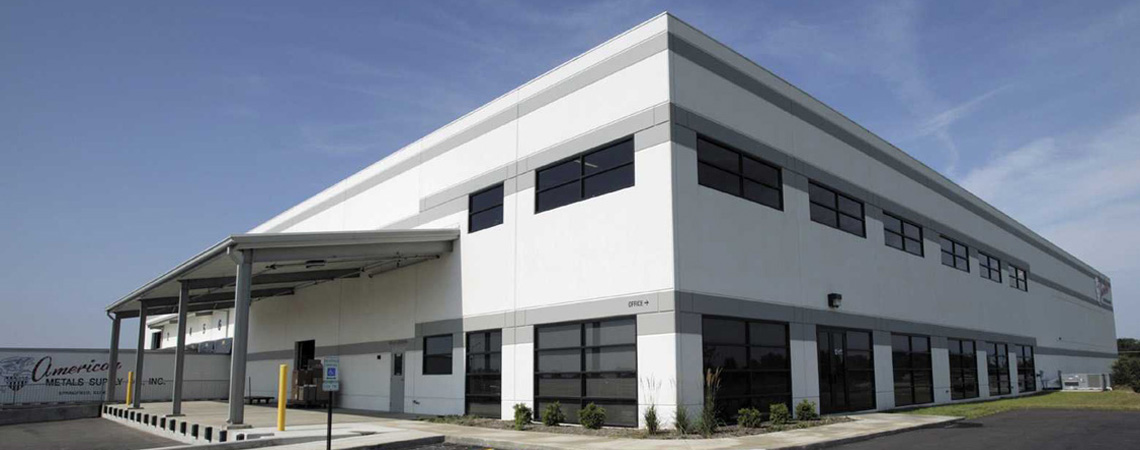 Evan Lloyd Architects designed a new distribution facility for American Metals Supply Company in Springfield, Illinois.