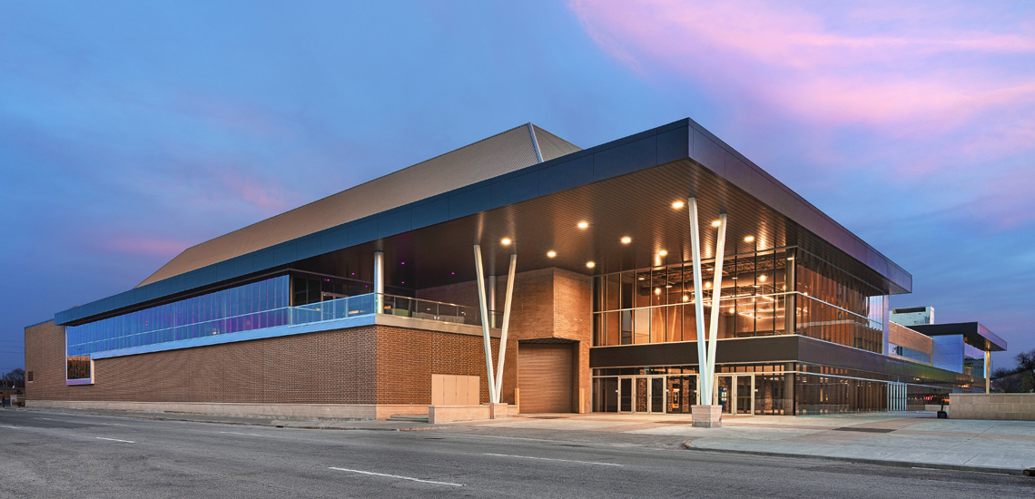 Evan Lloyd Architects provided extensive architecture services for the Prairie Capitol Convention Center (PCCC) in Springfield, Illinois, providing design solutions, color renderings, construction documents, and construction cost estimates.