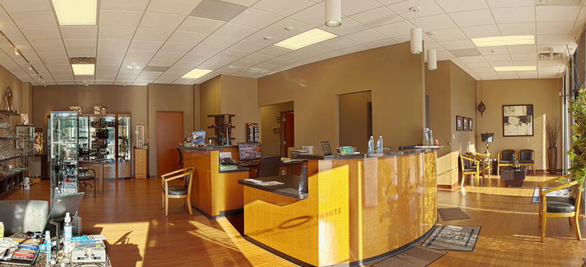 Evan Lloyd Architects provided healthcare architectural services for Bergh-White Opticians Inc. in Springfield, Illinois with an interior renovation.