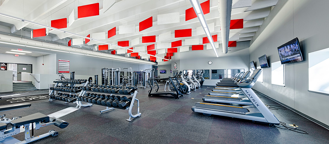 Evan Lloyd Architects provided educational architectural services for Woodword Athletic Facility at Blackburn College in Carlinville, Illinois.
