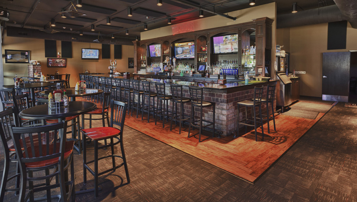 Evan Lloyd Architects provided restaurant architecture services for Brickhouse Grill & Pub in Springfield, Illinois, including an interior renovation.