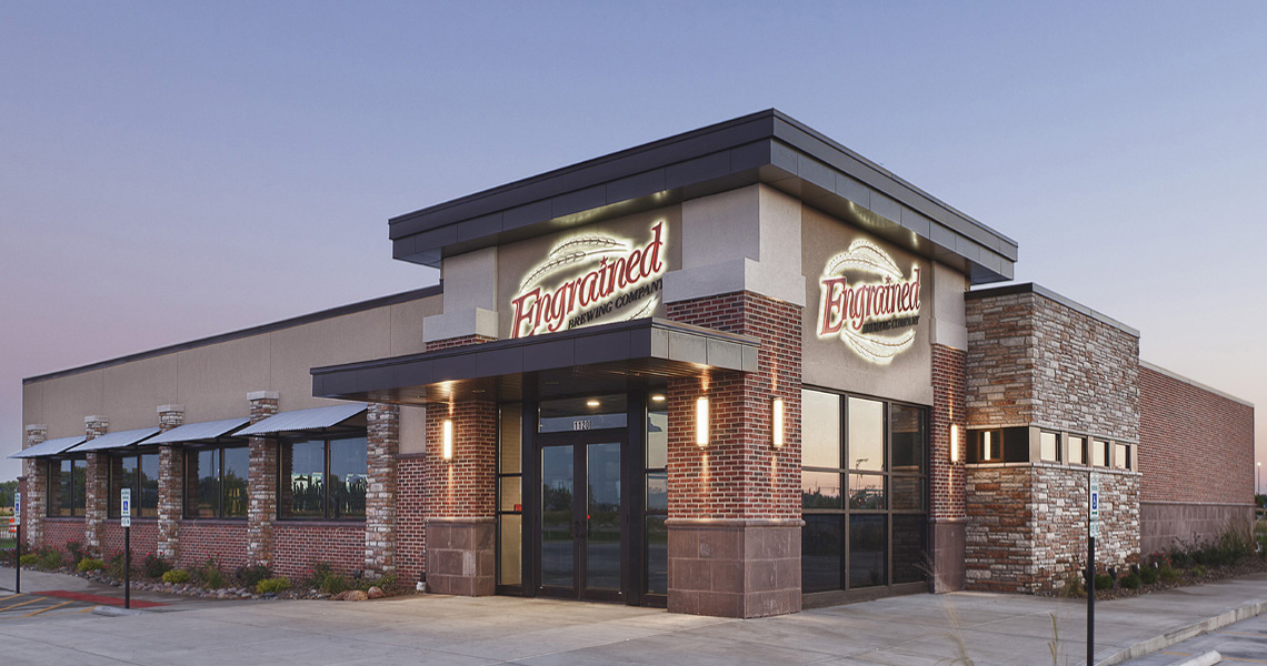 Evan Lloyd Architects provided restaurant architectural services for Engrained Brewery in Springfield, Illinois.