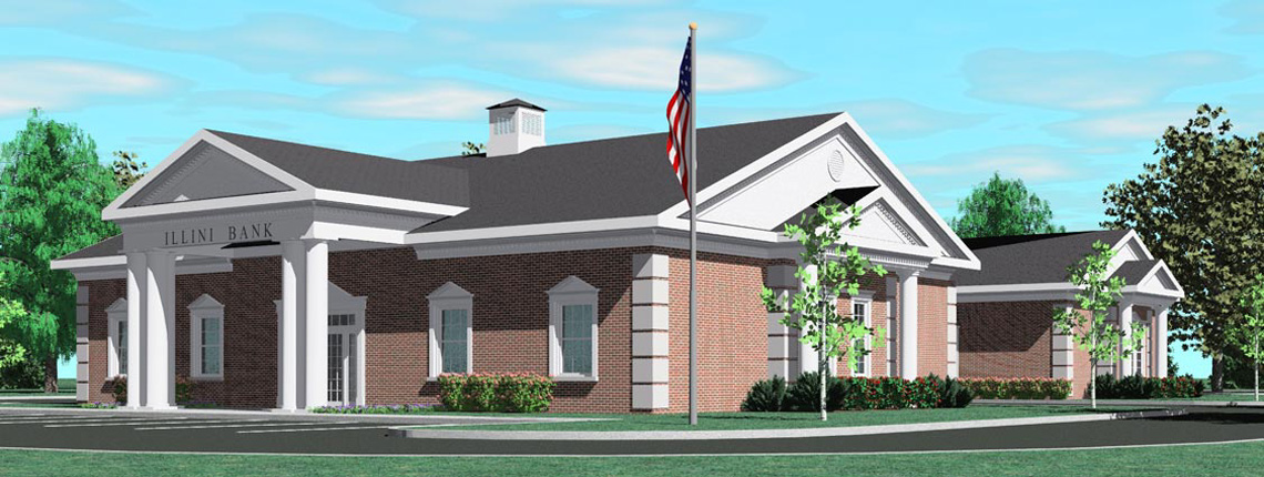 Evan Lloyd Architects provided architectural services for Illini Bank in Sherman, Illinois.