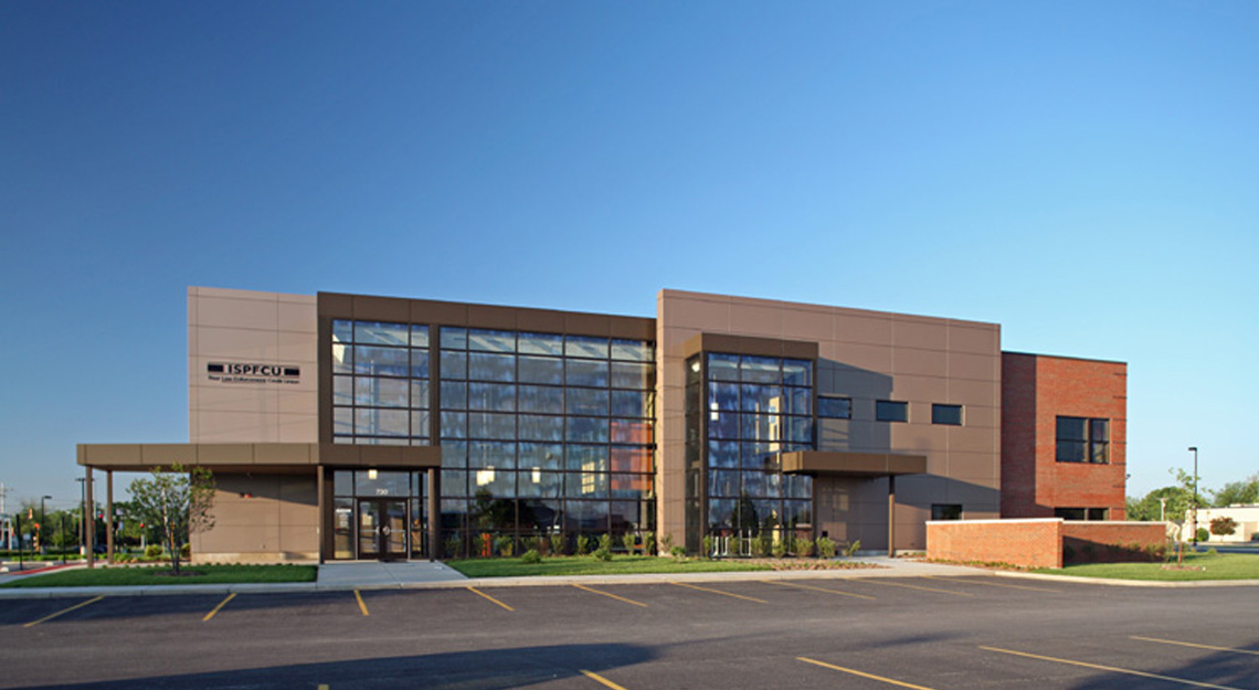 Evan Lloyd Architects provided architectural services for Illinois State Police Federal Credit Union (ISPFCU) in Springfield, Illinois.