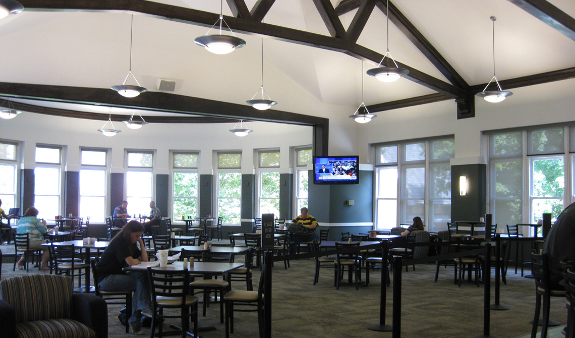 Evan Lloyd Architects provided education architectural services for Pearson Hall at McKendree College in Lebanon, Illinois, renovating the existing dining hall.