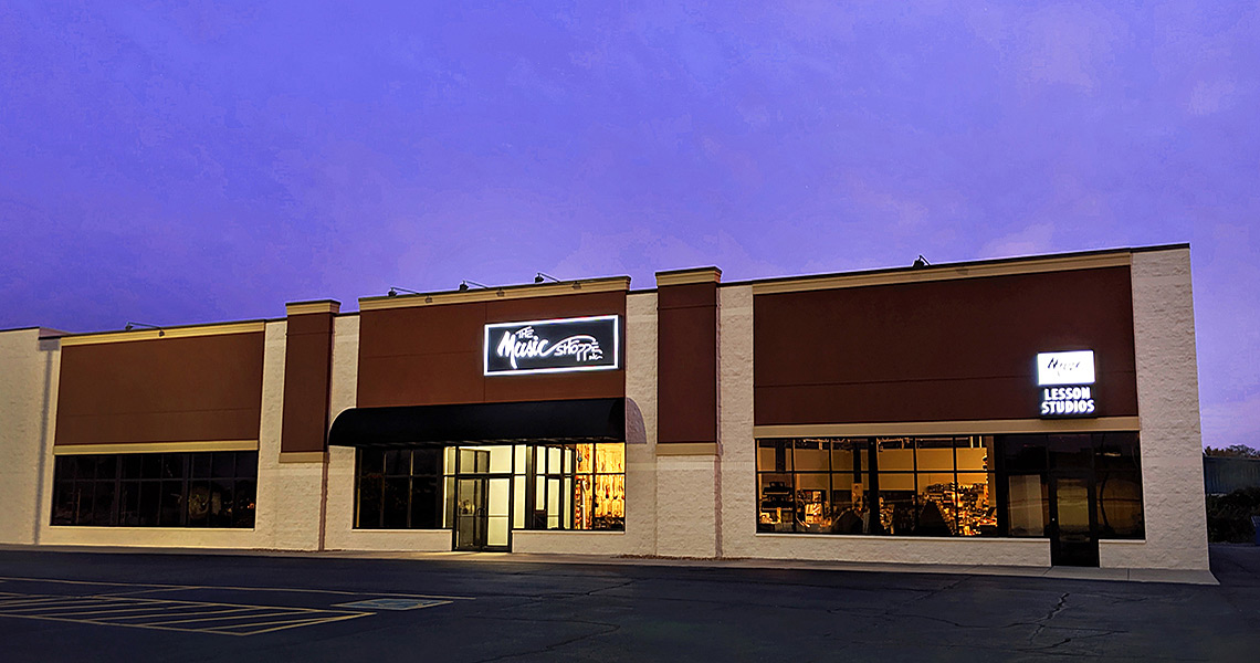 Evan Lloyd Architects provided retail architectural services for The Music Shoppe in Springfield and Champaign, Illinois.