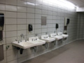 Evan Lloyd Architects architecture services - Prairie Capitol Convention Center (PCCC) in Springfield, Illinois - restrooms before the renovation.