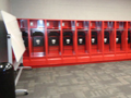 Evan Lloyd Architects - Woodword Athletic Facility at Blackburn College in Carlinville, Illinois - locker room.