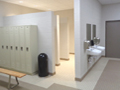 Evan Lloyd Architects - Woodword Athletic Facility at Blackburn College in Carlinville, Illinois - restroom.