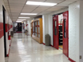 Evan Lloyd Architects - Woodword Athletic Facility at Blackburn College in Carlinville, Illinois - hallway before.