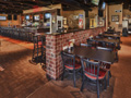 Evan Lloyd Architects - restaurant architecture services - Brickhouse Grill & Pub in Springfield, Illinois - interior renovation - table area.