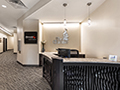 Evan Lloyd Architects completed office architectural services for Springfield Urban Redevelopment Project in Springfield, Illinois - r eception area of the Centre at 501 - Office Architecture.