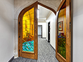 Evan Lloyd Architects completed office architectural services for Springfield Urban Redevelopment Project in Springfield, Illinois - beautiful glass and wood internal doors of the Centre at 501.