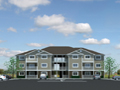 Evan Lloyd Architects - Cobblestone Apartments in Springfield, Illinois - artist's rendering of multi-unit dwelling.