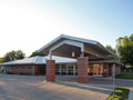 Evan Lloyd Architects - new family practice clinics - Community Memorial Hospital in Staunton, Illinois - canopy area.