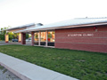 Evan Lloyd Architects - new family practice clinics - Community Memorial Hospital in Staunton, Illinois - side view.