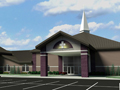Evan Lloyd Architects - religious architectural services - Fresh Visions Community Church in Springfield, Illinois - new worship center artist's rendering.