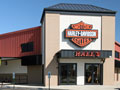 Evan Lloyd Architects - Halls Harley Davidson in Springfield, Illinois - exterior of the renovated building.