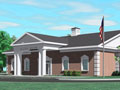 Evan Lloyd Architects provided financial architectural services for Illini Bank in Sherman, Illinois - artist's rendering of new bank facility.