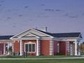 Evan Lloyd Architects - Illini Bank in Sherman, Illinois - back view.