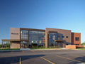 Evan Lloyd Architects - Illinois State Police Federal Credit Union (ISPFCU) in Springfield, Illinois - exterior view.