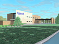 Evan Lloyd Architects - Illinois State Police Federal Credit Union (ISPFCU) in Springfield, Illinois - artist's rendering.