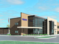 Evan Lloyd Architects - Illinois State Police Federal Credit Union (ISPFCU) in Springfield, Illinois - artist's rendering of the exterior.