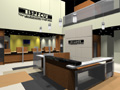Evan Lloyd Architects provided financial architectural services for Illinois State Police Federal Credit Union (ISPFCU) in Springfield, Illinois - artist's rendering of the lobby.