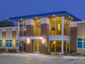 Evan Lloyd Architects provided architectural services for Legence Bank Corporate Office in Eldorado, Illinois - exterior of the new facility.