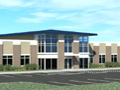 Evan Lloyd Architects provided - Legence Bank Corporate Office in Eldorado, Illinois - artist's rendering of the new facility.