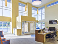 Evan Lloyd Architects - Legence Bank Corporate Office in Eldorado, Illinois - entrance in the new bank.
