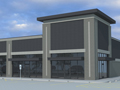 Evan Lloyd Architects - Liberty Plaza Retail Center in Springfield, Illinois - artists rendering.