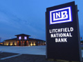 Evan Lloyd Architects - Litchfield National Bank in Litchfield, Illinois - sign at the new bank.