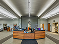 Evan Lloyd Architects - the reception area of the new Litchfield Public Library in Litchfield, Illinois.