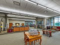 Evan Lloyd Architects - separate reading area in the Litchfield Public Library in Litchfield, Illinois.