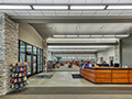 Evan Lloyd Architects - lobby area of the new Litchfield Public Library in Litchfield, Illinois.