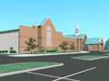 Evan Lloyd Architects - First Baptist Church of Maryville in Maryville, Illinois - religious architecture - artist's rendering