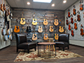 Evan Lloyd Architects - The Music Shoppe in Springfield and Champaign, Illinois - guitar wall that requires lots of support.
