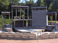 Evan Lloyd Architects - theater design architectural services - New Salem Theater in New Salem, Illinois -  new outdoor stage.