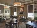 Evan Lloyd Architects - Obed & Isaac's Microbrewery in Springfield, Illinois - restaurant architectural services - fireplace.