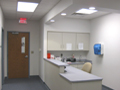 Evan Lloyd Architects provided healthcare architectural services - Ramsey Clinic, Pana Community Hospital, and Durable Med in Ramsey and Pana, Illinois - main desk renovation.