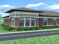 Evan Lloyd Architects - Prairie State Bank in Bloomington, Decatur, Jacksonville, and Springfield, Illinois - artist's rendering.