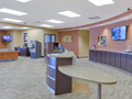 Evan Lloyd Architects - Prairie State Bank in Bloomington, Decatur, Jacksonville, and Springfield, Illinois - lobby after the renovation.