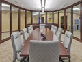 Evan Lloyd Architects - Prairie State Bank in Bloomington, Decatur, Jacksonville, and Springfield, Illinois - conference room.