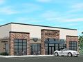 Evan Lloyd Architects - Roberts Automotive in Springfield, Illinois - new dealership artistic render.