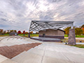 Evan Lloyd Architects - park architectural services - Sherman Municipal Park in Sherman, Illinois - outdoor canopy
