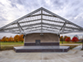 Evan Lloyd Architects - park architectural services - Sherman Municipal Park in Sherman, Illinois - outdoor stage